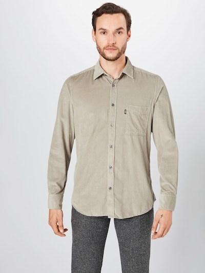 BOSS Koszula w kolorze beżowym: Widok z przodu