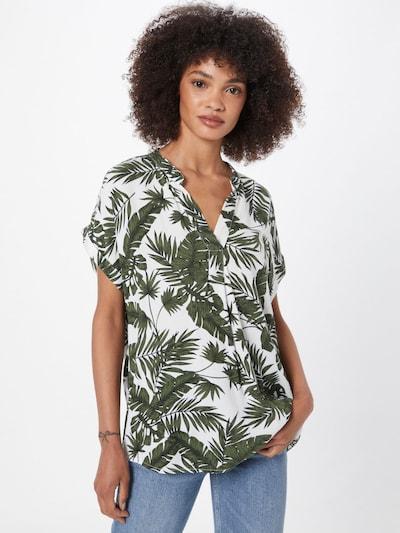 DeFacto Bluse in oliv / dunkelgrün / weiß, Modelansicht