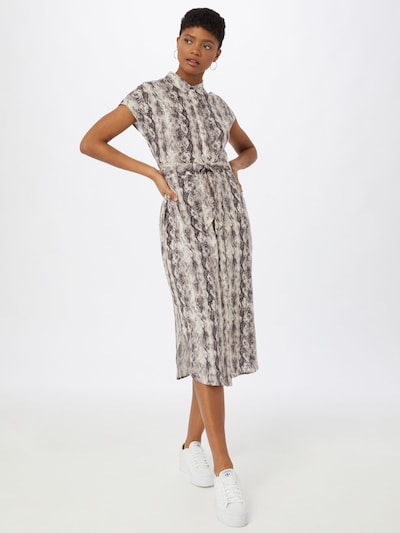 OBJECT Blousejurk in de kleur Beige / Zwart, Modelweergave