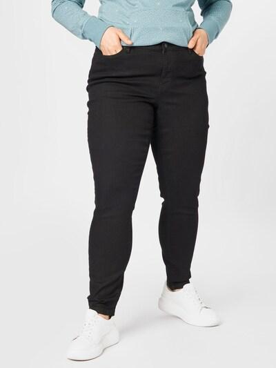 Vero Moda Curve Džinsa legingi, krāsa - melns, Modeļa skats