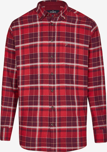 DANIEL HECHTER Hemd in rot / weinrot / weiß, Produktansicht