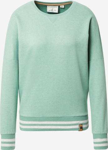 Sweat-shirt 'Shorty checkt ab' Fli Papigu en vert