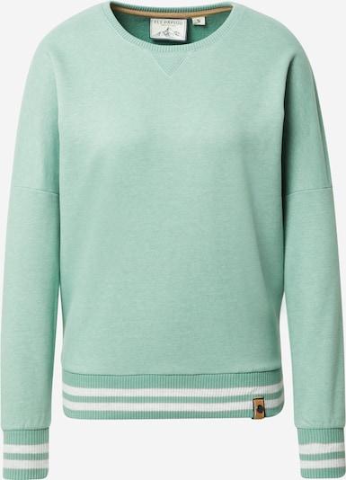 Fli Papigu Sweatshirt 'Shorty checkt ab' in creme / grünmeliert, Produktansicht