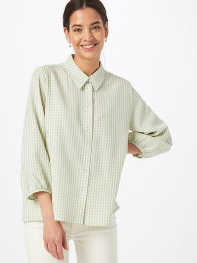 Palaidinė 'Fisabel' iš OPUS, spalva – šviesiai žalia / balta, Modelio vaizdas
