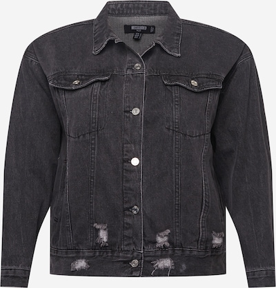Missguided Plus Jacke in black denim, Produktansicht