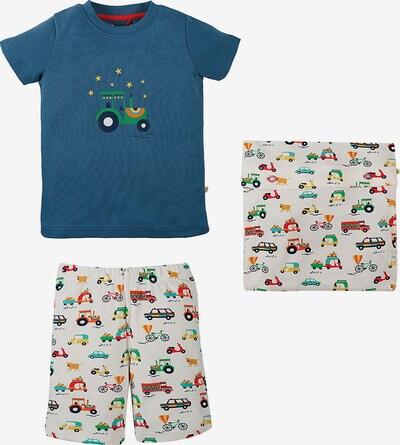 Frugi Schlafanzug 'Snoozy' in himmelblau / mischfarben / weiß, Produktansicht