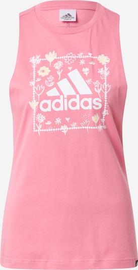 ADIDAS PERFORMANCE Sporttop in hellgelb / pink / weiß, Produktansicht