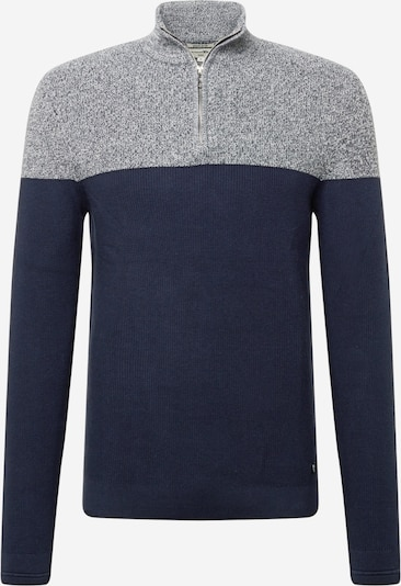 TOM TAILOR DENIM Pullover in dunkelblau / blaumeliert, Produktansicht