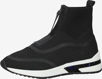LA STRADA High-Top Sneakers in Black