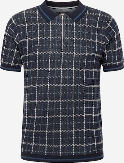 BURTON MENSWEAR LONDON Majica | mornarska / nebeško modra / svetlo siva barva, Prikaz izdelka