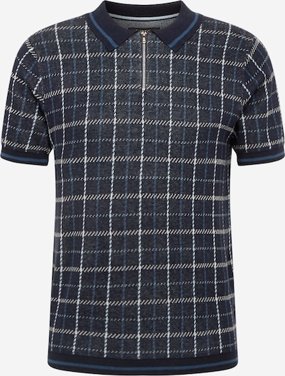 BURTON MENSWEAR LONDON Skjorte i navy / himmelblå / lysegrå, Produktvisning
