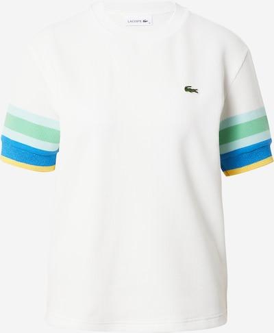 LACOSTE Тениска в кралско синьо / светлосиньо / жълто / нефритено зелено / бяло, Преглед на продукта