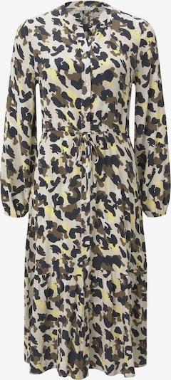 TOM TAILOR Kleid in gelb / oliv / schwarz / weiß, Produktansicht