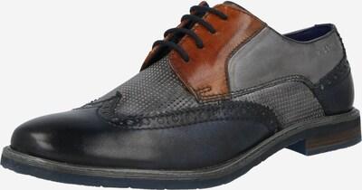 bugatti Chaussure à lacets 'Adamo' en bleu foncé / marron / gris, Vue avec produit