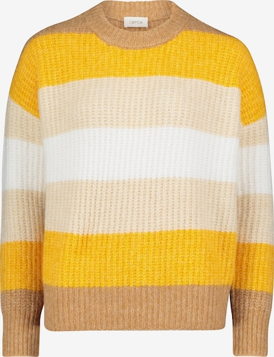 Cartoon Oversize-Pullover mit Streifen in camel / gelb, Produktansicht