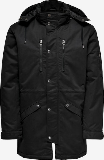 Only & Sons Parka 'Klaus' in schwarz, Produktansicht