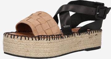 SHABBIES AMSTERDAM Strap Sandals in Beige