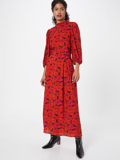 Hofmann Copenhagen Sukienka 'Carly' w kolorze różowy / ognisto-czerwony / czarnym, Podgląd na modelu(-ce)