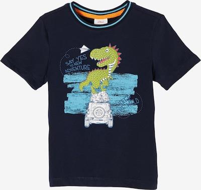 s.Oliver Shirt in de kleur Kobaltblauw / Aqua / Lichtgroen / Lichtrood / Wit, Productweergave