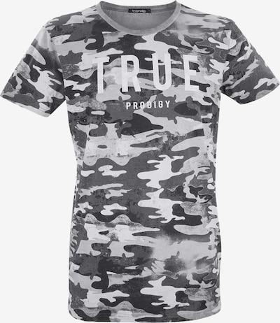 trueprodigy T-Shirt 'Jase' in grau / weiß, Produktansicht