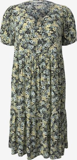 MY TRUE ME Robe-chemise en jaune clair / gris argenté / olive / noir / blanc, Vue avec produit