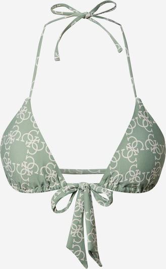 Sutien costum de baie GUESS pe bej / verde, Vizualizare produs
