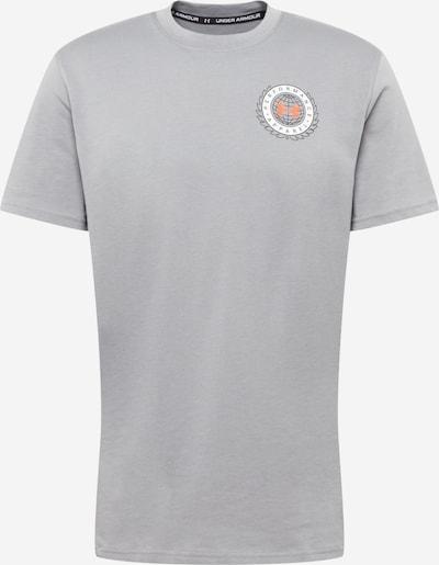 UNDER ARMOUR Sportshirt 'Alma' in grau / orange / schwarz / weiß, Produktansicht