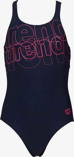 ARENA Badeanzug in marine / pink, Produktansicht