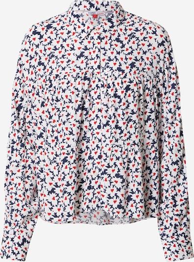 Tommy Jeans Bluse in marine / rot / weiß, Produktansicht
