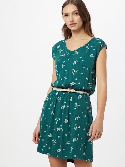 Ragwear Kleid 'Carolina' in senf / dunkelgrün / weiß, Modelansicht