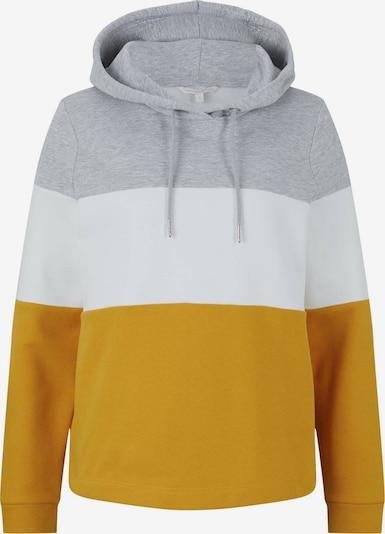 TOM TAILOR DENIM Sweatshirts in senf / graumeliert / weiß, Produktansicht