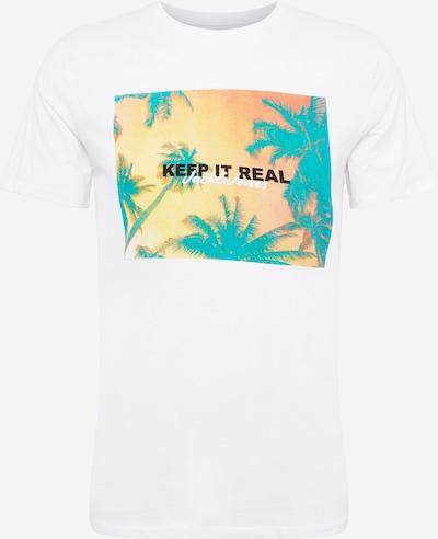 JACK & JONES T-Krekls 'SUMMER' nefrīta / oranžs / melns / balts, Preces skats