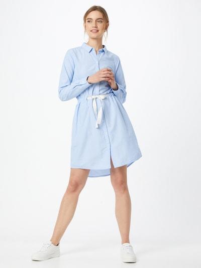 TOM TAILOR DENIM Blusenkleid in himmelblau / weiß, Modelansicht