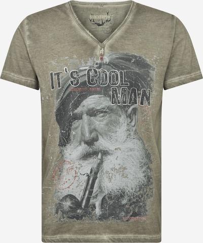 STOCKERPOINT Dirndl majica 'Coolman' u bež siva / crvena / crna / bijela, Pregled proizvoda