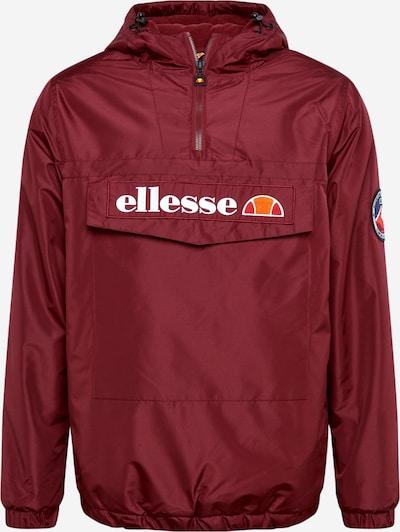 ELLESSE Tussenjas in de kleur Bourgogne / Wit, Productweergave