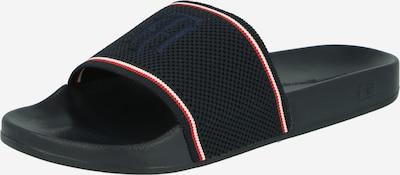 TOMMY HILFIGER Pantolette in dunkelblau / rot / weiß, Produktansicht