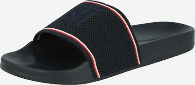 TOMMY HILFIGER Pantolette i mörkblå / röd / vit, Produktvy