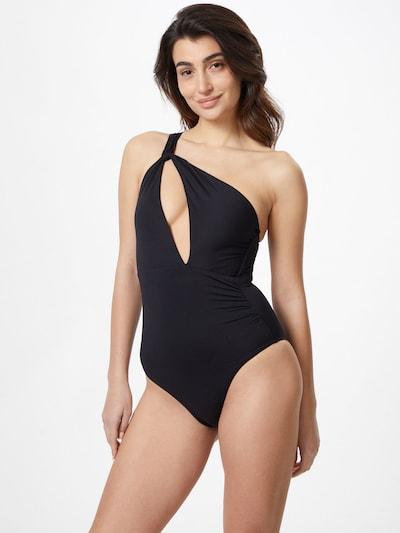 Seafolly Maillot de bain en noir, Vue avec modèle