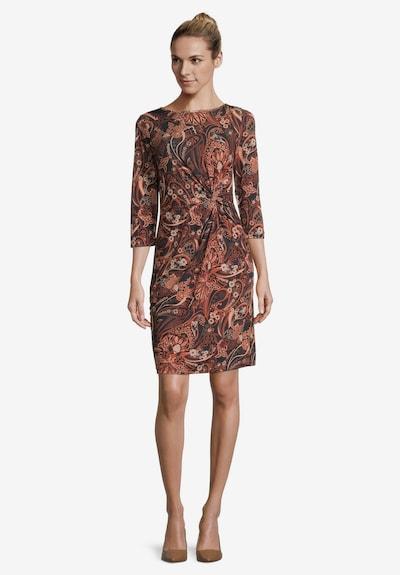 Betty Barclay Jerseykleid mit Raffung in braun, Modelansicht