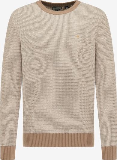 DreiMaster Vintage Pullover in beige / dunkelbeige, Produktansicht