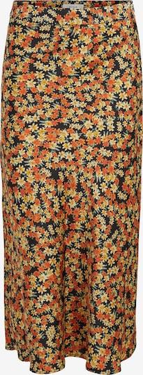 Fustă Vila Tall pe bej / galben / verde / portocaliu / negru, Vizualizare produs