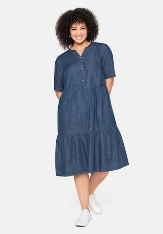 SHEEGO Shirt Dress in Blue