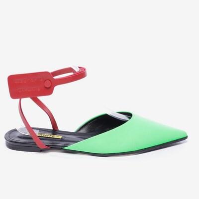 Off-White Sandalen in 40 in neongrün, Produktansicht