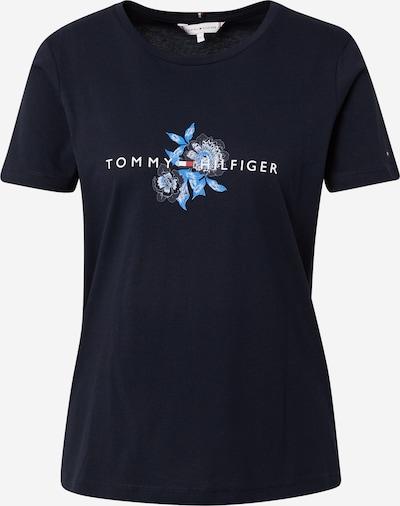 TOMMY HILFIGER Shirt in hellblau / dunkelblau / rot / weiß, Produktansicht