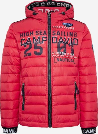 CAMP DAVID Jacke in cranberry / schwarz / weiß, Produktansicht