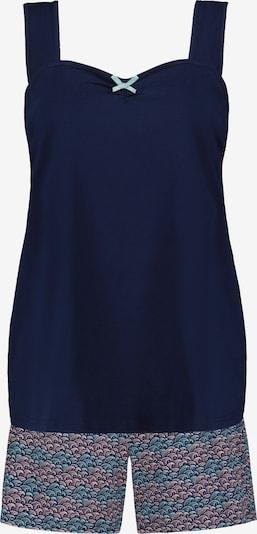 Ulla Popken Pyjama in de kleur Navy / Pink, Productweergave