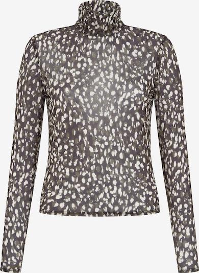 Aligne Shirt 'Ember' in dunkelgrau / khaki / weiß, Produktansicht