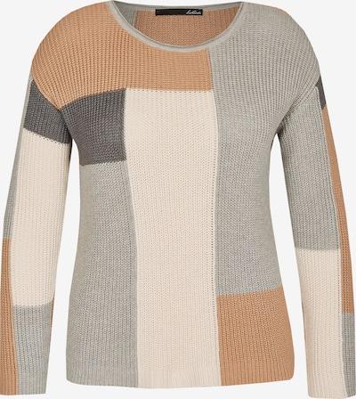 Lecomte Pullover in beige / braun / grau, Produktansicht