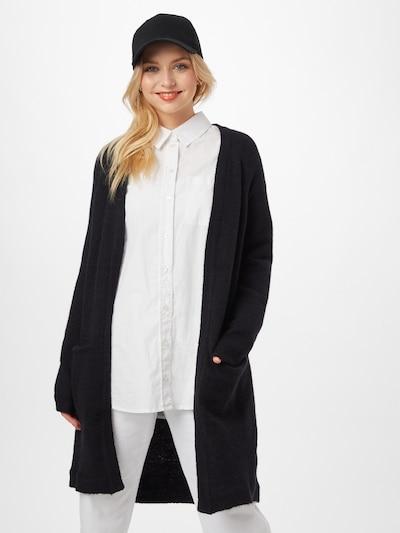 minimum Strickjacke 'Kerstin' in schwarz, Modelansicht