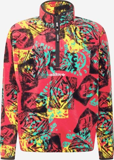 ADIDAS ORIGINALS Sweatshirt in türkis / gelb / pink / schwarz: Frontalansicht